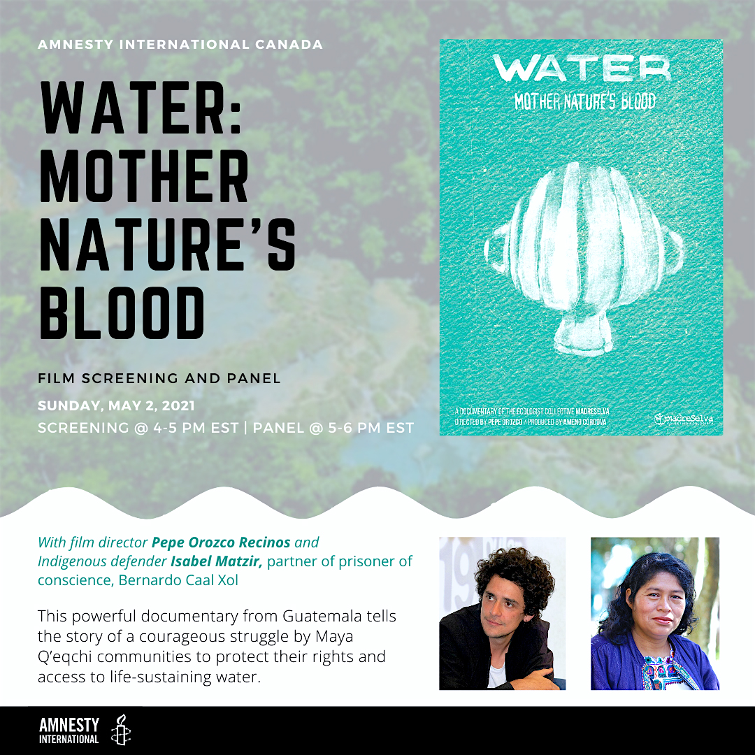 """Water: Mother Nature's Blood - screening and panel"