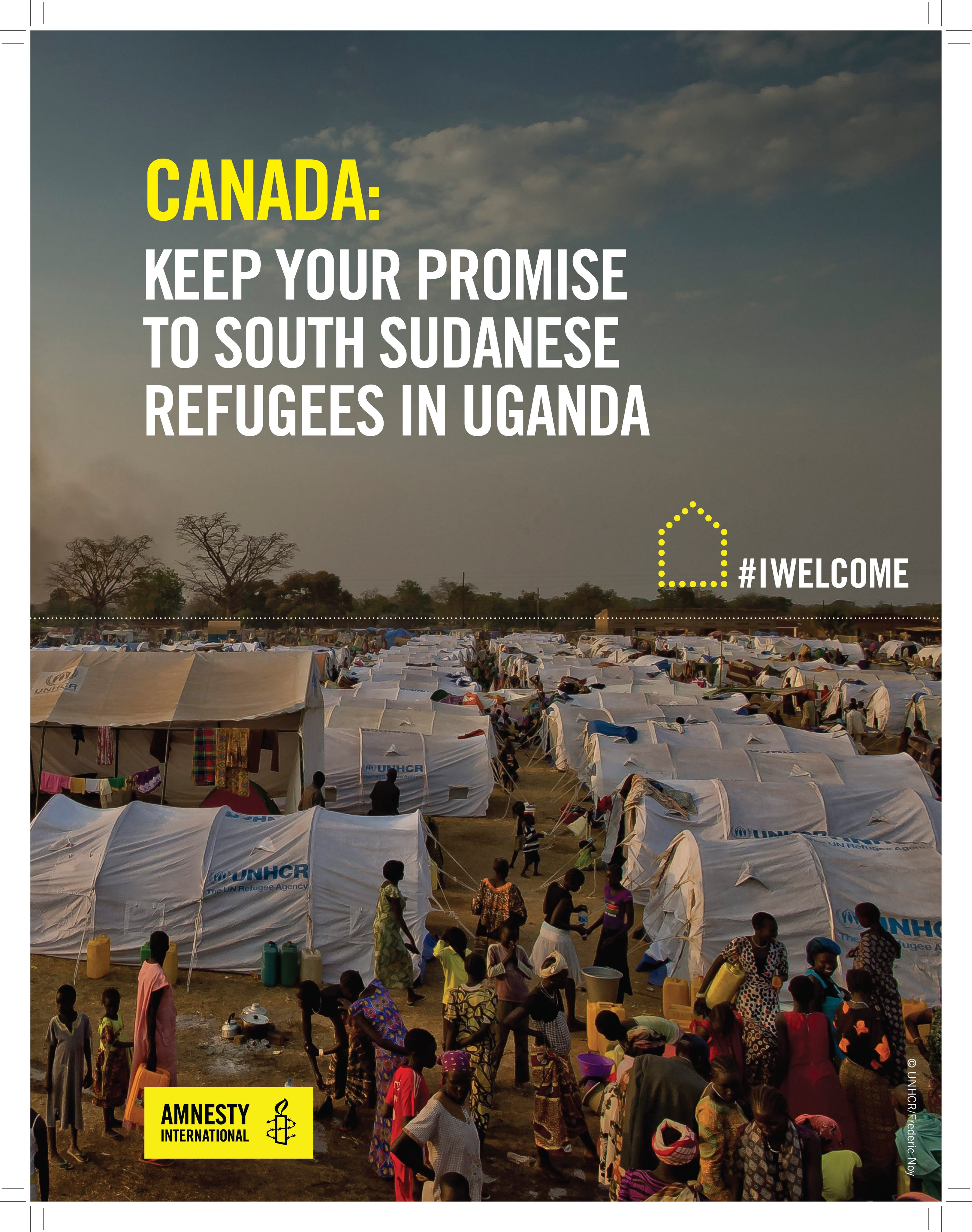 Postcard CANADA: Keep Your Promise To South Sudanese Refugee