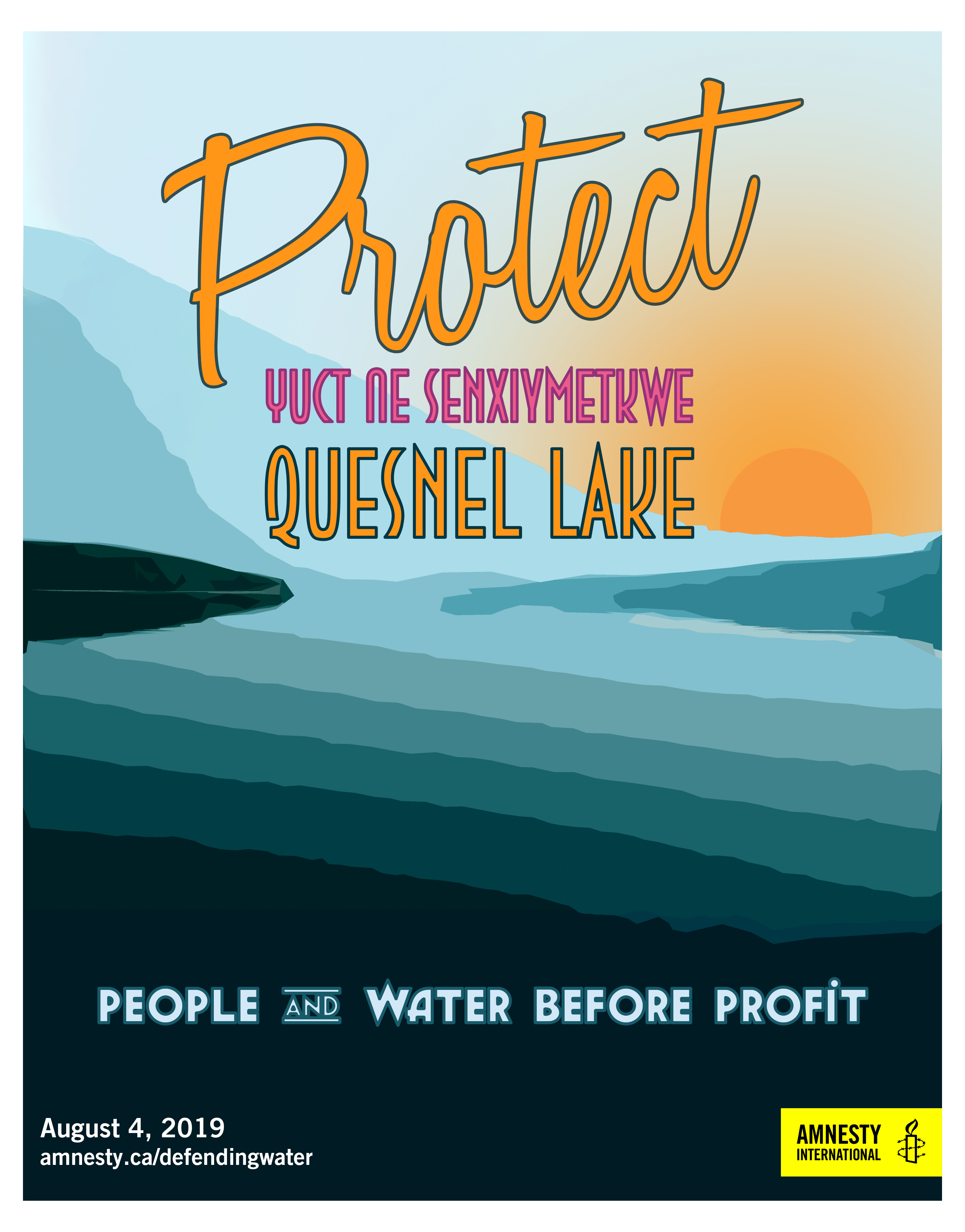 Protect Quesnel Lake Poster